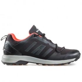 Мъжки маратонки - висококачествен текстилен материал - черни - EO-17319