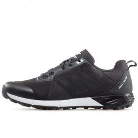 Мъжки маратонки - висококачествен текстилен материал - черни - EO-17395