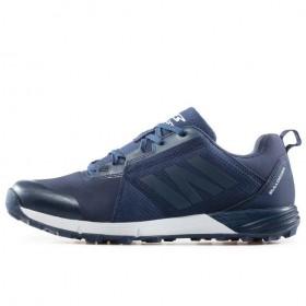 Мъжки маратонки - висококачествен текстилен материал - тъмносин - EO-17394