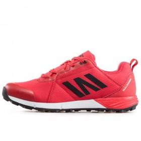 Мъжки маратонки - висококачествен текстилен материал - червени - EO-17393