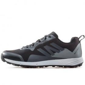 Мъжки маратонки - висококачествен текстилен материал - черни - EO-17323