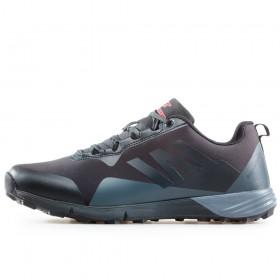 Мъжки маратонки - висококачествен текстилен материал - черни - EO-17320