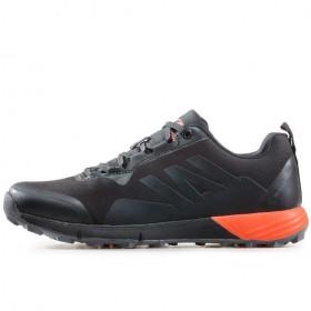 Мъжки маратонки - висококачествен текстилен материал - черни - EO-17321