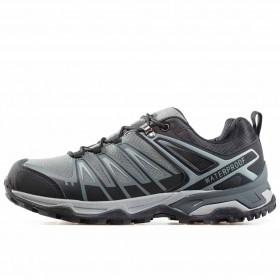 Мъжки маратонки - висококачествен текстилен материал - сиви - EO-17309
