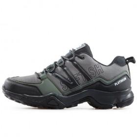 Мъжки маратонки - висококачествен текстилен материал - черни - EO-17327