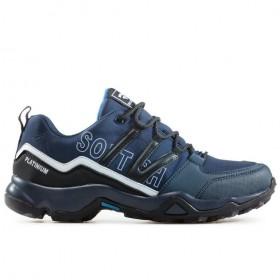 Мъжки маратонки - висококачествен текстилен материал - сини - EO-17328