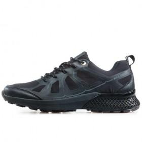 Мъжки маратонки - висококачествен текстилен материал - черни - EO-17326