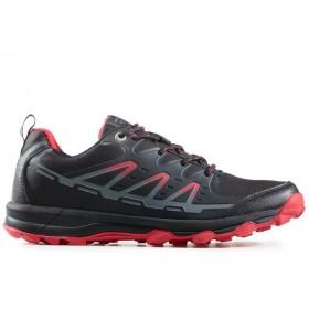 Мъжки маратонки - висококачествен текстилен материал - черни - EO-17324