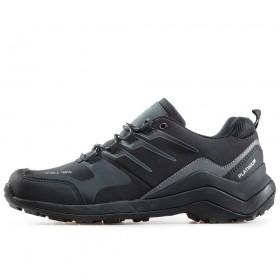 Мъжки маратонки - висококачествен текстилен материал - черни - EO-17317