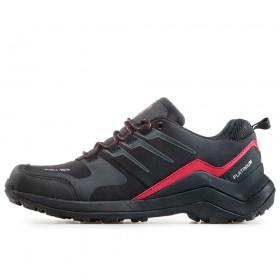 Мъжки маратонки - висококачествен текстилен материал - черни - EO-17316