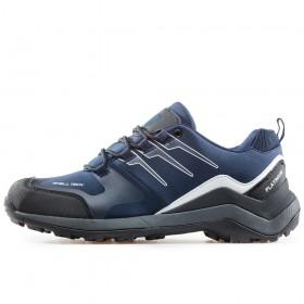 Мъжки маратонки - висококачествен текстилен материал - тъмносин - EO-17318