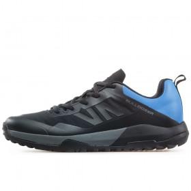 Спортни мъжки обувки - висококачествен текстилен материал - черни - EO-17349