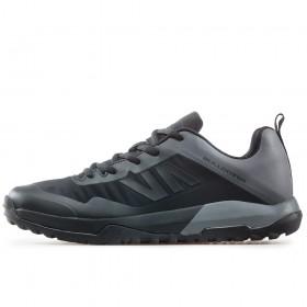 Спортни мъжки обувки - висококачествен текстилен материал - черни - EO-17348