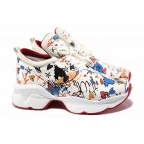 Дамски спортни обувки - висококачествена еко-кожа - бели - EO-15370