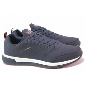Мъжки маратонки - висококачествена еко-кожа - сини - EO-16997