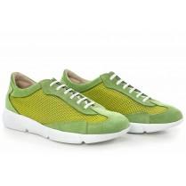 Дамски спортни обувки - висококачествен текстилен материал - зелени - EO-16896