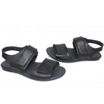 Мъжки сандали - естествена кожа - черни - EO-15706