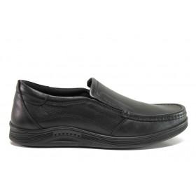 Мъжки обувки - естествена кожа - черни - EO-15238