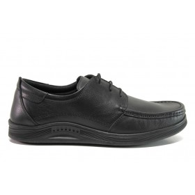 Мъжки обувки - естествена кожа - черни - EO-15239