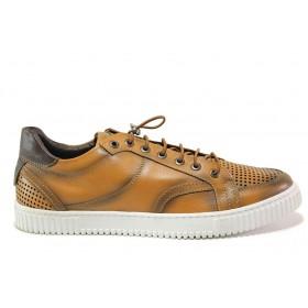 Мъжки обувки - естествена кожа - кафяви - EO-15236