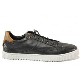 Мъжки обувки - естествена кожа - черни - EO-15235