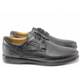 Мъжки обувки - естествена кожа - черни - EO-15317