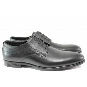 Мъжки обувки - естествена кожа - черни - EO-15455