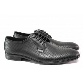 Мъжки обувки - естествена кожа - черни - EO-15477