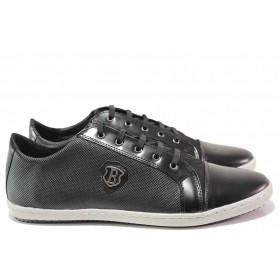Мъжки обувки - естествена кожа - черни - EO-16414