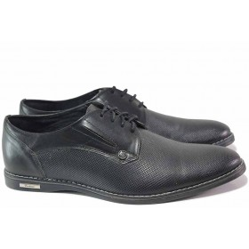 Мъжки обувки - естествена кожа - черни - EO-16716