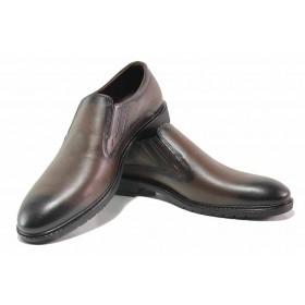 Мъжки обувки - естествена кожа - кафяви - EO-16936
