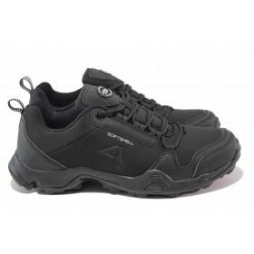 Мъжки обувки - висококачествен текстилен материал - черни - EO-16958