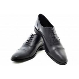 Елегантни мъжки обувки - естествена кожа - черни - EO-16927