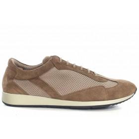 Спортни мъжки обувки - висококачествен текстилен материал - бежови - EO-16756