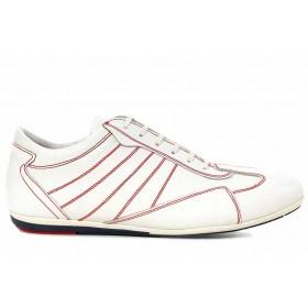 Спортни мъжки обувки - естествена кожа - бели - EO-16750