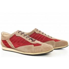 Спортни мъжки обувки - естествена кожа - бежови - EO-16751