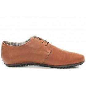 Мъжки обувки - естествена кожа - кафяви - EO-16757