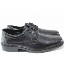 Мъжки обувки - естествена кожа - черни - EO-15347