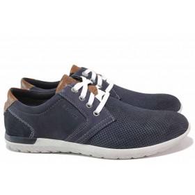 Мъжки обувки - естествена кожа - сини - EO-15630