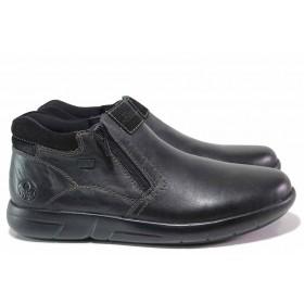Мъжки боти - естествена кожа - черни - EO-17197