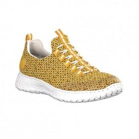 Дамски маратонки - висококачествен текстилен материал - жълти - EO-15744