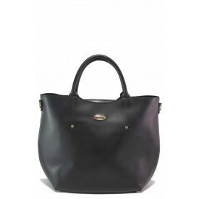 Дамска чанта - висококачествена еко-кожа - черни - EO-17525