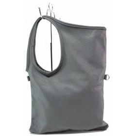Дамска чанта - висококачествена еко-кожа - сиви - EO-17558