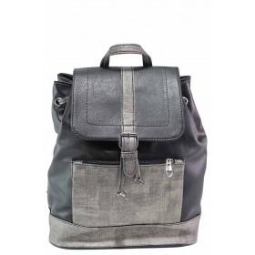 Раница - висококачествена еко-кожа - черни - EO-17575
