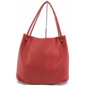Дамска чанта - висококачествена еко-кожа - червени - EO-17618