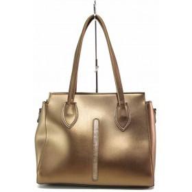 Дамска чанта - висококачествена еко-кожа - жълти - EO-17622