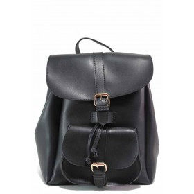 Раница - висококачествена еко-кожа - черни - EO-17626