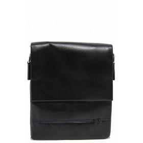 Мъжка чанта - естествена кожа - черни - EO-17645