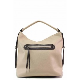 Дамска чанта - висококачествена еко-кожа - бежови - EO-17669
