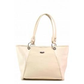 Дамска чанта - висококачествена еко-кожа - бежови - EO-17678